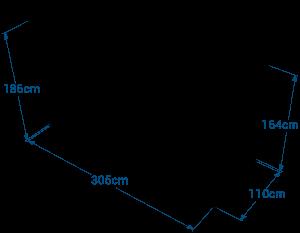 Shéma :Local CONTENEUR avec toit double