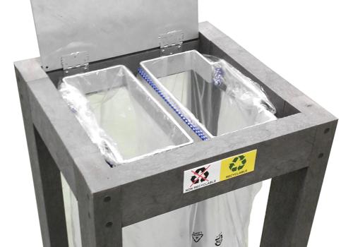 option tri selectif pour corbeille plastique recycle gamme canopee - option tri sélectif ESPACE URBAIN