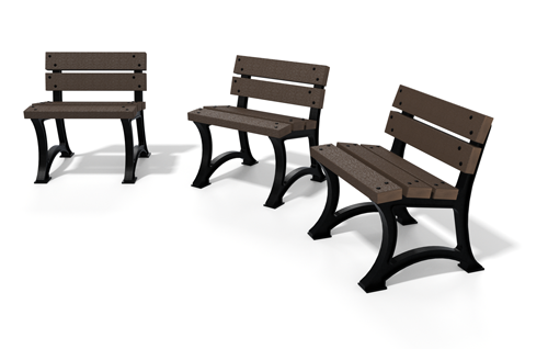 chaise en plastique recycle et pied fonte gamme city - Chaise CITY ESPACE URBAIN