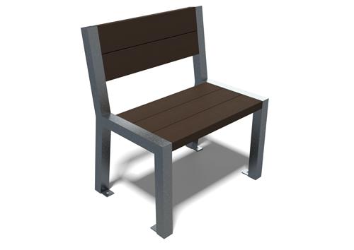 Chaise Elegance en plastique 100% recyclé et pieds acier - chaise ÉLÉGANCE ESPACE URBAIN