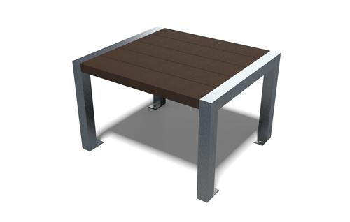 Table basse en plastique 100% recyclé et pieds acier - Table basse ÉLÉGANCE ESPACE URBAIN
