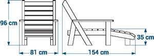 Shéma :Chaise longue confort ÉQUATEUR