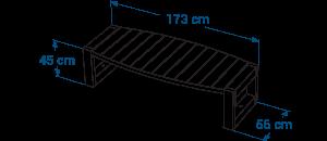 Shéma :Table basse ovale ESCAPADE
