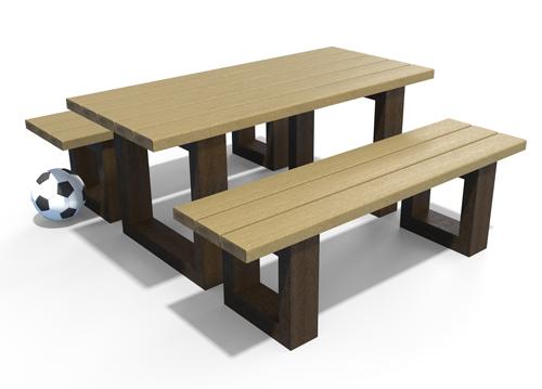 Ensemble table et 2 banquettes ESCAPADE Niño