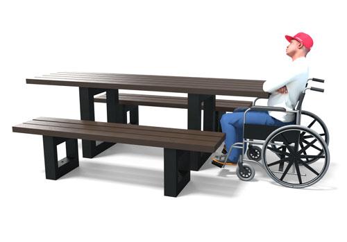 Table de pique-nique spéciale PMR ESCAPADE