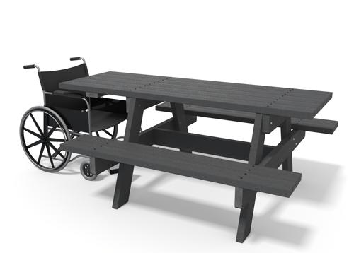 Table de pique-nique adaptée aux pmr PARC ÉCO