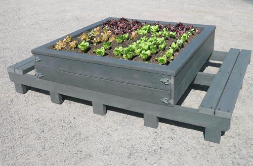 table de plantation enfant en plastique recyclé - Table de plantation niño ESPACE URBAIN