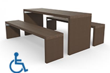 table pique-nique en plastique 100% recycle gamme arche