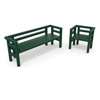 banc et fauteuil plastique 100% recycle gamme club