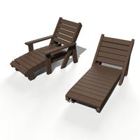 chaises longues en plastique recyclé gamme équateur