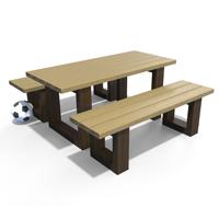 table et banquette enfant en plastique recycle gamme escapade