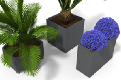 jardiniere 100% plastique recycle moderne gamme espace