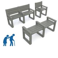 banc banquette et fauteuil plastique recycle special ehpad pmr