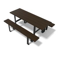 table de pique nique en plastique recyclé et pied métal gamme FP180