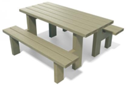 table pique-nique maternelle en plastique recycle gamme madrid