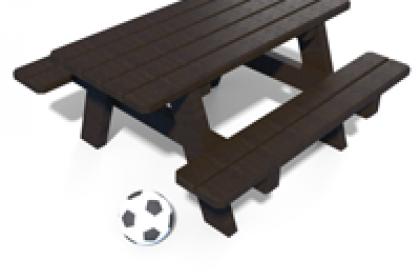 table pique-nique junior en plastique recycle gamme parc