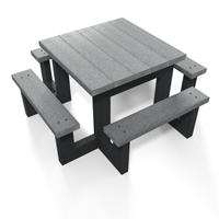 table pique-nique carree juinor et maternelle en plastique recycle gamme pimpom
