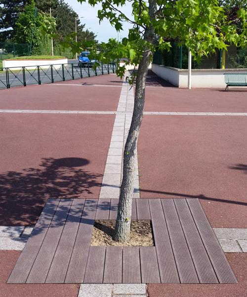 Pied d'arbre carré en plastique 100% recyclé - PIED D'ARBRE 150x150 cm ESPACE URBAIN