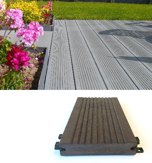 Terrasse et platelage en plastique 100% recyclé - Lattes de terrasse ESPACE URBAIN