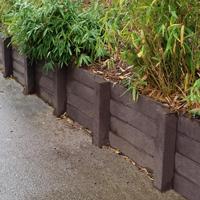 retenue de terre en panneaux 100% plastique recyclé sans entretien imputrescible