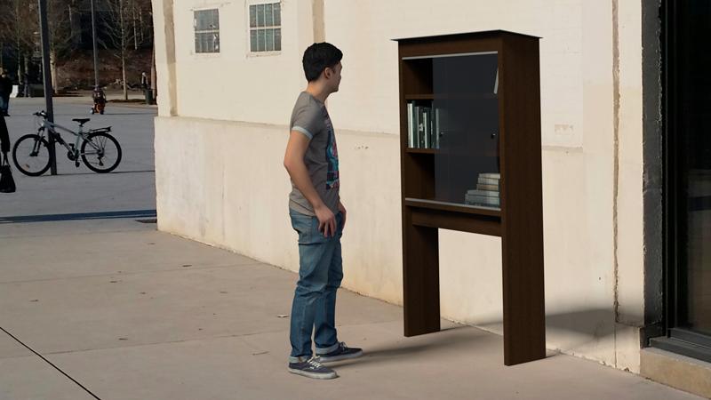 étagère échange de livres