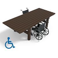 table en plastique recycle special fauteuils roulants acces pmr pour ehpad