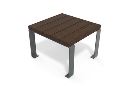table basse plastique 100% recyclé et pieds métal gamme Flexo - Table basse Flexo ESPACE URBAIN