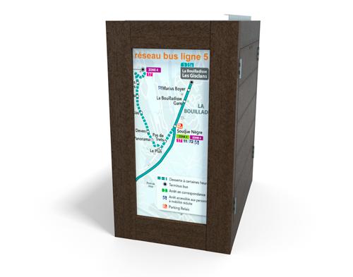 visuel sur poubelle plastique recycle - Option visuel sur les côtés ESPACE URBAIN