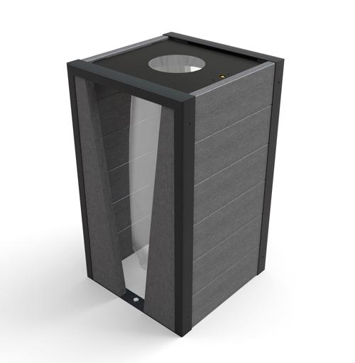 corbeille vigipirate en plastique recycle et metal - Corbeille élégance vigipirate ESPACE URBAIN