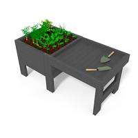mini-jardin en plastique recycle avec table de rempotage pour ecoles