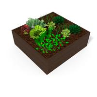 mini-jardin a poser en plastique 100% recycle pour ecoles et parcs