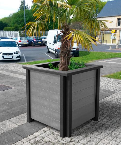 jardiniere 100% plastique recycle gamme plazza - Jardinière PLAZZA ESPACE URBAIN