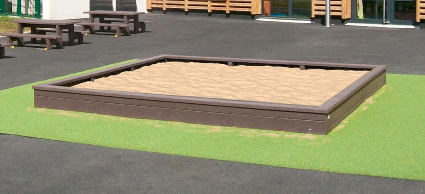 Bac à sable 130x140 cm ESPACE URBAIN