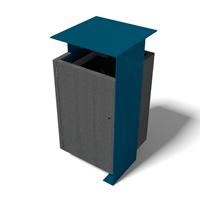 corbeille poubelle en plastique recycle et metal peint couleur colorplast