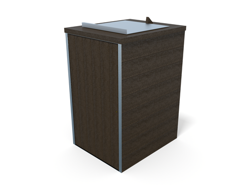 abri pour un conteneur 2 roues en plastique recycle - Abri conteneur 1 bac ESPACE URBAIN