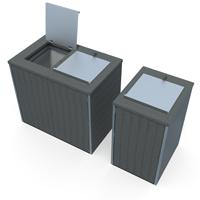 abri pour conteneur poubelle 2 roues en plastique recycle imputrescible